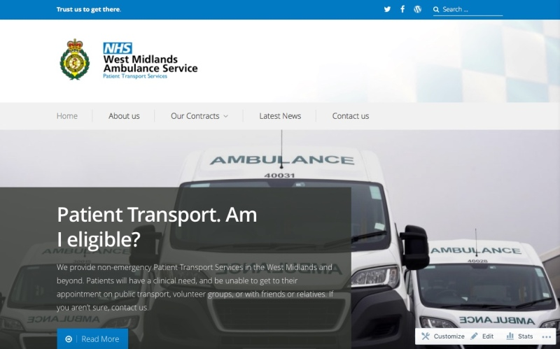 wmas patient transport service � trust us to get there